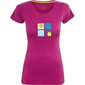Ocun Pop Art Love T-shirt Femme, berry viol
